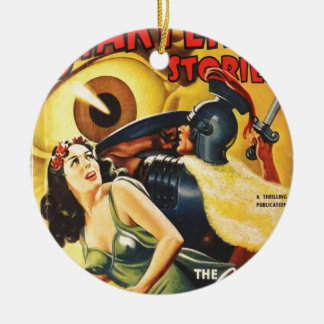 Gladiator kämpft einen Augapfel Keramik Ornament
