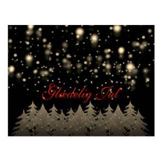 Glædelig Jul Goldsternenklare Postkarte