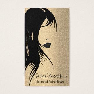 Glamour-Haar und Make-up Visitenkarte