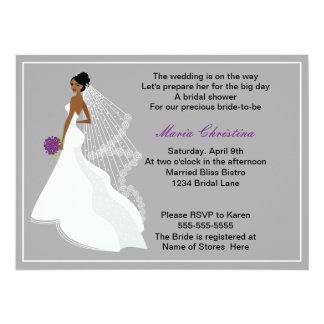 Glamour-Mädchen-Brautparty-Einladung 1 (c2a) Karte