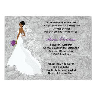 Glamour-Mädchen-Brautparty-Einladung 1 (cback) Karte
