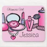 Glamour-Mädchen-Geburtstag Mousepad