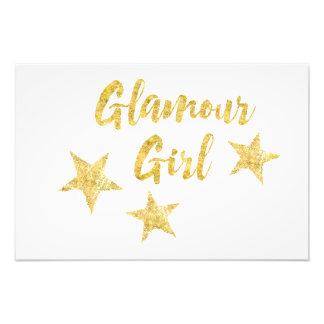 Glamour-Mädchen Photographischer Druck