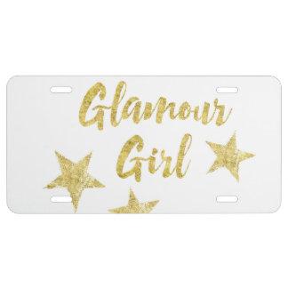 Glamour-Mädchen US Nummernschild