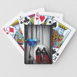 Glamourmartini-Cocktail-Party-Mädchen stilletos Bicycle Spielkarten