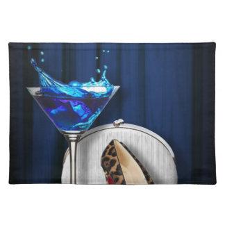 Glamourmartini-Cocktail-Party-Mädchen stilletos Tischset