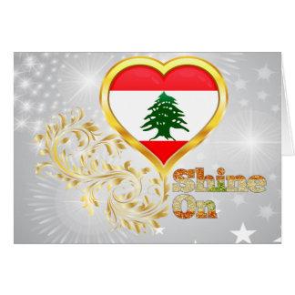 Glanz auf dem Libanon Grußkarte