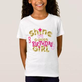 Glanz auf Geburtstags-Mädchen T-Shirt
