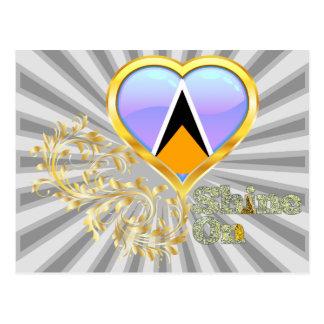 Glanz auf Heiliger Lucia Postkarte