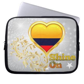 Glanz auf Kolumbien Computer Sleeve Schutzhüllen