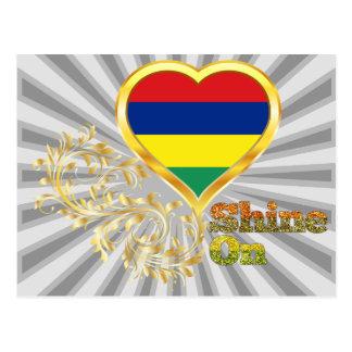 Glanz auf Mauritius Postkarte