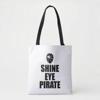 Glanz-Augen-PiratEyepatch. Dunkler Text Tasche