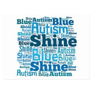 Glanz-Blau für Autismus-Produkte Postkarte