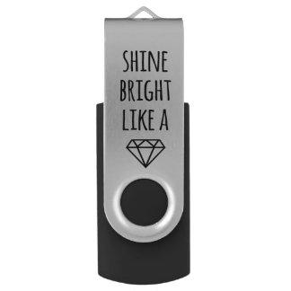 Glanz hell wie ein Diamant USB-Antrieb Swivel USB Stick 2.0