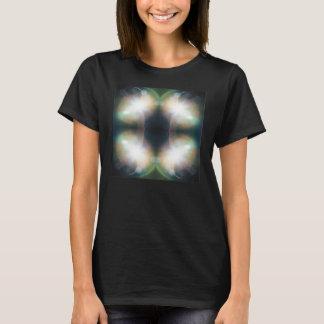 Glanz-Mandala-Entwurfs-T-Stück T-Shirt