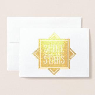 Glanz wie die Goldfolien-leere Karte der Stern-|