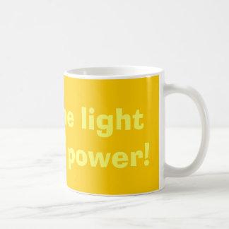 Glänzen Sie das Licht auf SolarPower! Kaffeetasse