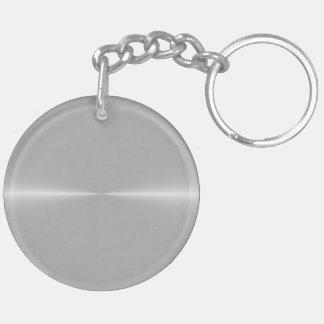 Glänzend wie Stahlmetallhintergrund-Schablone Schlüsselanhänger