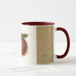 Glänzende Äpfel 3D (gemasert/Specke) Tasse
