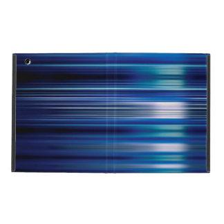 Glänzende blaue Geschwindigkeit zeichnet Muster Schutzhülle Fürs iPad
