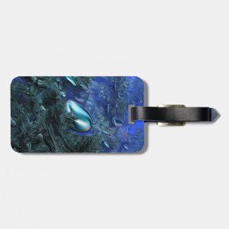 Glänzende blaue Kiesel Gepäckanhänger