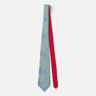 Glänzende blaue Krawatte
