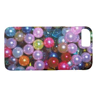 Glänzende bunte Perlen iPhone 8/7 Hülle