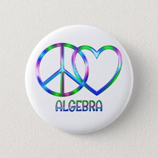 Glänzende FriedensLiebe-Algebra Runder Button 5,7 Cm
