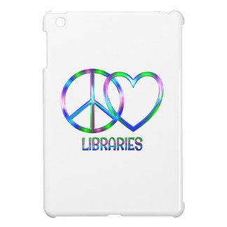 Glänzende FriedensLiebe-Bibliotheken Hüllen Für iPad Mini