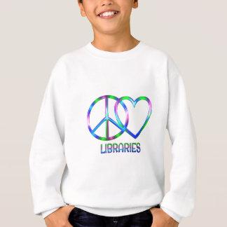 Glänzende FriedensLiebe-Bibliotheken Sweatshirt