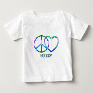 Glänzende FriedensLiebe-Biologie Baby T-shirt