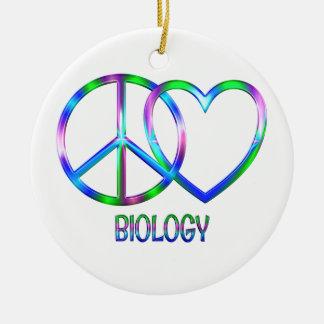 Glänzende FriedensLiebe-Biologie Keramik Ornament