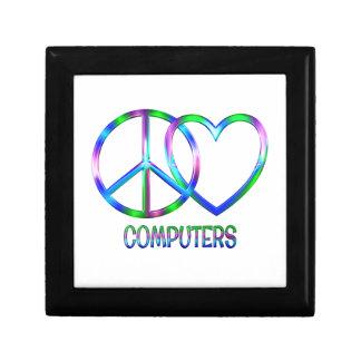 Glänzende FriedensLiebe-Computer Geschenkbox