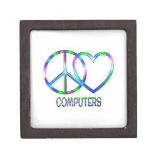 Glänzende FriedensLiebe-Computer Schachtel