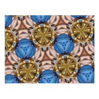 Glänzende Goldpapierbeschwerer-Glas-Marmore blaues Postkarten