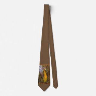 Glänzende Goldpfau-Hochzeits-Krawatte Bedruckte Krawatten