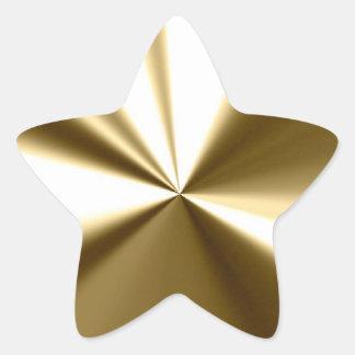 Glänzende Goldstern-Aufkleber