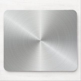 Glänzende Kreispoliermetallbeschaffenheit Mousepad