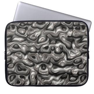 Glänzende metallische Reflexionen Laptopschutzhülle