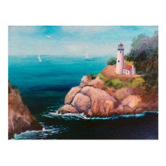 Glänzende Punkt-Leuchtturm-Postkarte Postkarte