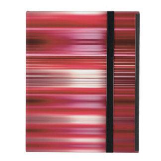 Glänzende rote Geschwindigkeit zeichnet Muster iPad Etuis