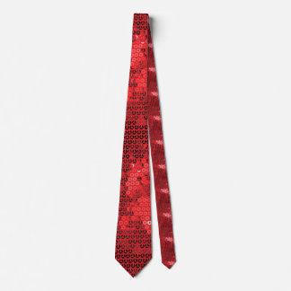 glänzende rote Paillette Krawatte