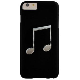 Glänzende silberne Musik-Anmerkungs-gestrahlte Barely There iPhone 6 Plus Hülle