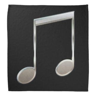 Glänzende silberne Musik-Anmerkungs-gestrahlte Kopftuch