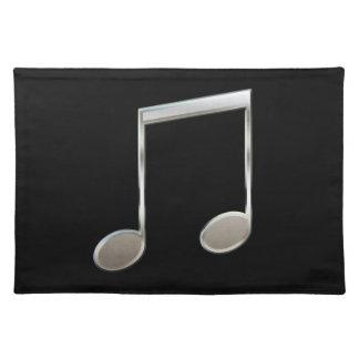 Glänzende silberne Musik-Anmerkungs-gestrahlte Tischset