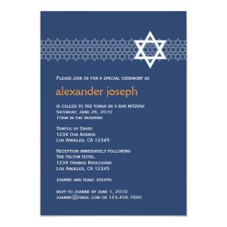 Glänzende Stern-Bar Mitzvah Einladung