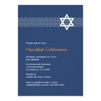 Glänzende Stern-Chanukka-Party Einladung