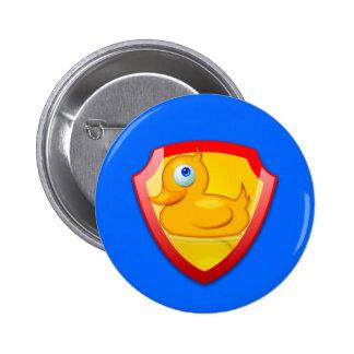 Glänzende Verteidiger-Ente Button