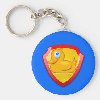 Glänzende Verteidiger-Ente Schlüsselanhänger