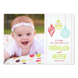 Glänzenden Verzierungen Foto Weihnachtskarte Ankündigungen
